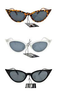 Chat Eye UV400 Soleil Retro1950/60s Mode En 3 Couleurs & Métal Charnières SG58
