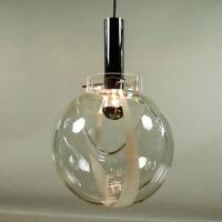 Glas Kugel Pendel Leuchte Murano Glas Hänge Lampe Ø 30 cm Vintage 70er Mazzega