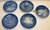 "5 B&G Bing & Grondahl Denmark mothers day Plates 1971 1972 1975 1976 1986 6"""