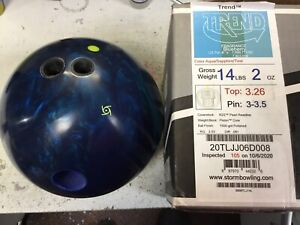 Storm Trend 14lb Right Hand Drilled Bowling Ball