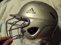 Youth Baseball Batting Helmet With Cage ADIDAS INCITE Adjustable  6 3/8-7 5/8