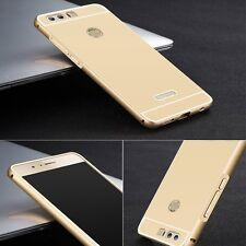 ALUMINIO CARCASA 2 piezas con cubierta oro para Huawei Honor 8 Funda NUEVO