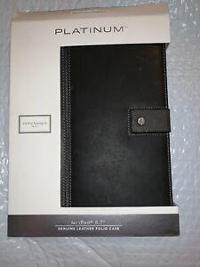 """Platinum PT-IP18SBB97 Geunine Leather Folio Case for Apple iPad 9.7""""  Black"""