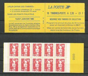 France - Carnet Neuf de 10 Timbres Marianne de Briat 2,30 Rouge (2629.C-1)