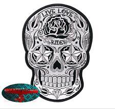 Sugar Skull Ride Patch Patch aufbügler Biker motocicleta rocker Day of the Dead