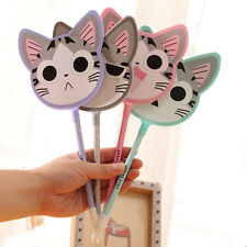 2X CUTE Cartoon Novelty cat fan Ball Point Ballpoint Pen Office Stationery