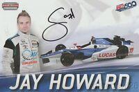 2017 Jay Howard signed Lucas Oil Honda Dallara Indy 500 Indy Car postcard