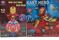 Ironman Electric Rotation Music Light Kids Toys Xmas Gift Bump & Go Motorbike