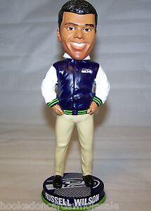 2013 Russell Wilson Seattle Seahawks Bobblehead Doll Varsity Collection LTD 504