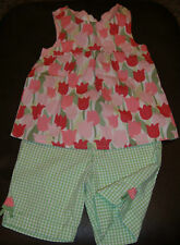 Gymboree Tulip Garden baby doll top & gingham shorts SET NWT 5 5T