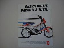 advertising Pubblicità 1990 GILERA BULLIT