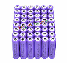 48x AA 3000 mAh de la batería recargable Ni-MH 2A púrpura para MP3/RC/Cámara
