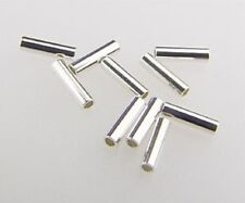 925 Solid STERLING SILVER Spacer Tubes 1x5mm 100pcs  #5601-5