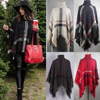 Women Batwing Top Poncho Knit Cape Cardigan Coat Knitwear Sweater Outwear Shawl
