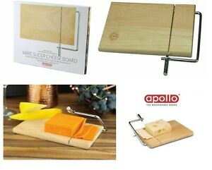 APOLLO CHEESE SLICER HEVEA RUBBER WOOD WOODEN BOARD WITH WIRE CUTTING HANDLE 005
