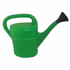 Kingfisher Green 5 Litre Plastic Watering Can With Detachable Rose Sprinkler