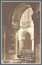 St. Bartholomew the Great Nave 1920's Sepia Collotype PC by Judges, Ltd. UNUSED