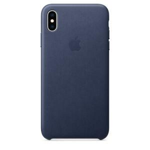 "iPhone X 5,8"" Apple Original Echt Leder Schutz Hülle Case Mitternachtsblau NEU"