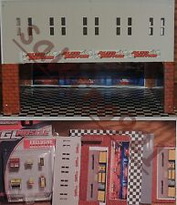 TWO FLOORS BUILDING KIT WITH SHELL STATION GARAGE 1:64 (S) Scale DIORAMA!