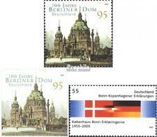 BRD (BR.Duitsland) 2445,2446,2449 gestempeld 2005 Berlijn Dom, National Flags