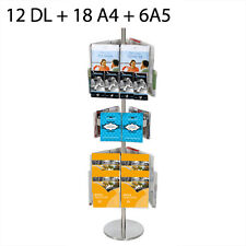Rotating Floor Brochure Stand  / Brochure Display - 12 DL+18 A4+6A5