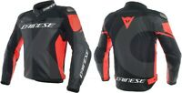 "BLACK & RED ""DAINESE"" MOTORBIKE LEATHER RACING JACKET  MOTORCYCLE JACKET"