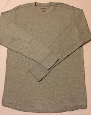 CROFT & BARROW THERMAL CREW SHIRT UNDERWEAR LONG JOHNS Men's Large L (gray) NWT