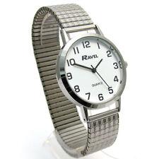 Ravel Men's Super-Clear Quartz Watch with Expanding Bracelet sil #23 R0201.01.1s