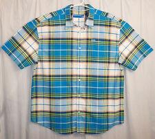 Enyce Button Front Shirt Men's 3XL Multi-Color Plaid Short Sleeve