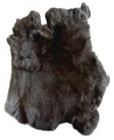 BUY 1 GET ONE FREE NATURAL BLACK  GENUINE RABBIT SKIN hide fur pelt skins bunny