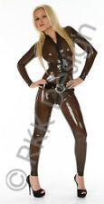 SMALL 100% Latex Rubber Catsuit Dark Charcoal Semi Transparent Stunningly HOT