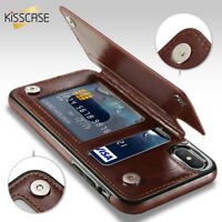 Leather Wallet Case for iPhone XS Max XR X 7 8 6 Plus 5 5S SE Card Holder Cover
