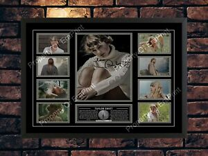 TAYLOR SWIFT SIGNED 2020 FOLKLORE LIMITED EDITION A4 PHOTO MUSIC PRINT