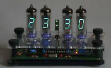 Bausatz Nixie Ära VFD IV-3 Uhr 12/24h Temp. °C/°F Gehäuse  DIY clock kit