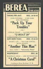 1939 BEREA THEATRE OH SHOWING PACK UP YOUR TROUBLES W/J WITHERS & RITZ BROS ETC