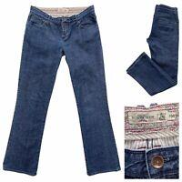WHITE STUFF Dark Blue Denim Bootcut Jeans Size 10 Regular