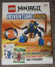 Lego Ninjago: Adventure Pack Books w/ Jay Nanomech Figure + 500 Stickers - NEW