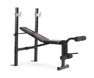 Weider Legacy Standard Weight Bench and Rack with Fixed Uprights, Foam Roll Leg