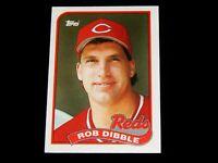 Vintage MLB Baseball Card,1989, Topps, ROB DIBBLE, CINCINNATI REDS, # 264
