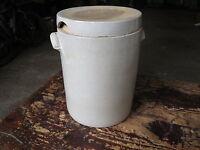 Ancien gros pot à graisse grès poterie paysanne ancienne french antique pottery