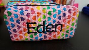 Personalised Embroidered Pencil Case 2 pockets Zipped School