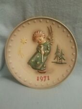"""1971 Hummel Annual Plate """" Heavenly Angel """" with original box"""