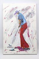 Modernes Gemälde   Der Golfer