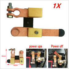 Battery Disconnect Knife Blade Switch 17mm Top Post Brass Shut off 12V-24V Valid
