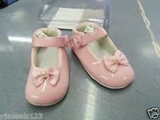 New Tiny Steps Infant Girls Size 3 Pink Patent Leather Shoes Flats FREE Shipping