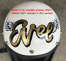 "Evel Knievel ""EVEL & WINGS"" Vinyl Decals CUSTOMIZED one of a kind#1 Daredevil"