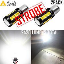 Alla 1156 33-LED STROBE Back Up Light Bulb Brake Center High Mount Stop Blinker