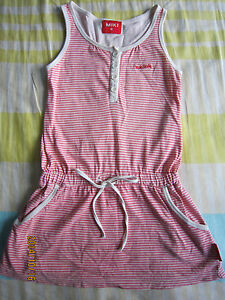 Miki Girl Toddler Pink & Striped Sleeveless Dress(3-4yo) 1 pcs