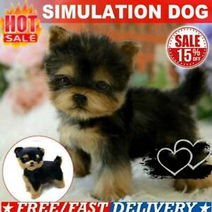 Yorkie Dog Simulation Toy Dog Puppy Lifelike Pet Companion B6Z5