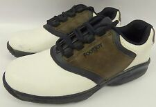 ** FOOT JOY  **  White & Brown Great Cond Womens Golf Shoes Soft Spikes Size 5 M